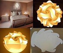 Puzzle Lampe Hängelampe LAMPADA ROMANTICA Größe XXXL bis 70 cm Durchmesser - 30 Teile 43 x 33 cm - inclusive Kabel & Fassung -
