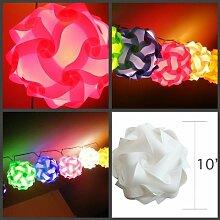 Puzzle Lampe Puzzle Lampen m Puzzle Lampenschirm rund Lampada m 4 Stück in 4 Farben !