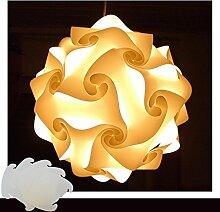 Puzzle Lampe Weiss Größe XXL Designer Lampe