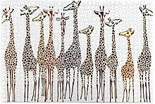 Puzzles, Giraffen Bild für Erwachsene, geeignet