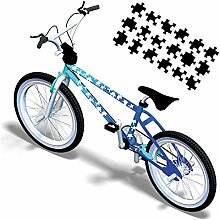 Puzzleteile Puzzle Aufkleber für das Fahrrad Fahrradaufkleber Bike Design | S4B0126