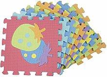 Puzzleteppich kreativ Spielmatte 10 Stücke