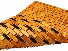 PV Bambus Duschmatte Badvorleger Badematte Holz