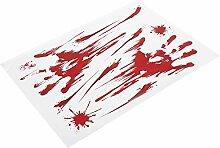 PVC 15Pcs Bloody Handprint, Bloody Handprint
