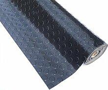PVC 2,5mm dick grau schwarz Boden Rolle 1m