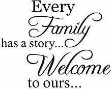 PVC begrüßt unsere Wandaufkleber.Jede Familie