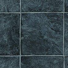 PVC Bodenbelag Fliesenoptik Auslegware 2,6 mm Dicke Fliese Anthrazit 400 x 400 cm. Weitere Farben und Größen verfügbar