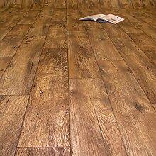 PVC Bodenbelag Holz Rustikal Dunkel (Breite: 200