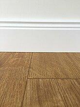 PVC-Bodenbelag Holzoptik Braun | Vinylboden in 2m Breite & 8m Länge | Fußbodenheizung geeignet | PVC Planken strapazierfähig & pflegeleicht | Fußboden-Belag für Gewerbe und Wohnbereich