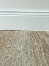 PVC-Bodenbelag Holzoptik Hell Struktur | Vinylboden in 2m Breite & 1m Länge | Fußbodenheizung geeignet | PVC Planken strapazierfähig & pflegeleicht | Fußboden-Belag für Gewerbe und Wohnbereich