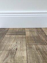 PVC-Bodenbelag Holzoptik in Dunkelbraun | Vinyl-Fußbodenbelag 500 cm Länge & 3 m Breite | Fußbodenheizung geeignet | PVC Platten strapazierfähig & pflegeleicht | Fußboden-Belag | Hergestellt in Belgien