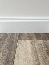 PVC-Bodenbelag Holzoptik in Grau-Braun | Vinyl-Fußbodenbelag 100 cm Länge & 3 m Breite | Fußbodenheizung geeignet | PVC Platten strapazierfähig & pflegeleicht | Robuster & rutschfester Boden-Belag | Hergestellt in Belgien