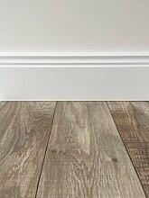 PVC-Bodenbelag Holzoptik in Hellbraun | Vinyl-Fußbodenbelag 200 cm Länge & 4 m Breite | Fußbodenheizung geeignet | PVC Platten strapazierfähig & pflegeleicht | Robuster & rutschfester Boden-Belag | Hergestellt in Belgien