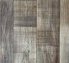 PVC-Bodenbelag Holzoptik | Muster | in Dunkelbraun | Vinyl-Fußbodenbelag in verschiedenen Maßen verfügbar | Fußbodenheizung geeignet | PVC Platten strapazierfähig & pflegeleicht | Hergestellt in Belgien