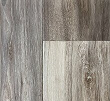 PVC-Bodenbelag Holzoptik | Muster | in Grau-Braun | Vinyl-Fußbodenbelag in verschiedenen Maßen verfügbar | Fußbodenheizung geeignet | PVC Platten strapazierfähig & pflegeleicht | Hergestellt in Belgien