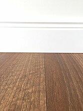 PVC-Bodenbelag Holzoptik Rot-Braun | Vinylboden in 2m Breite & 1m Länge | Fußbodenheizung geeignet | PVC Planken strapazierfähig & pflegeleicht | Fußboden-Belag für Gewerbe und Wohnbereich