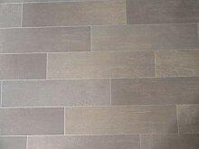 PVC Bodenbelag in grauen Planken (7,45€/m²),