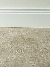 PVC-Bodenbelag in klassischer Marmoroptik Hell | Fußboden-Belag in Steinoptik | Vinylboden in 4m Breite & 4m Länge | Fußbodenheizung geeignet | PVC Planken für den Wohnbereich | Made in Germany
