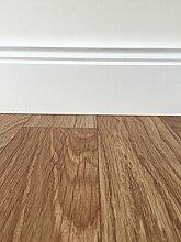 PVC-Bodenbelag in mediterraner Holzoptik Braun | Strukturierte Oberfläche | Vinylboden in 2m Breite & 5m Länge | Fußbodenheizung geeignet | pflegeleichte Planken für den Wohnbereich | Made in Germany