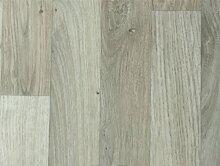 PVC-Bodenbelag Landhausoptik & Holzoptik Hellgrau | Vinylboden 4m Breite & 3,5m Länge | Fußbodenheizung geeignet | Pflegeleichte & rutschhemmende PVC Planken | Stark strapazierfähiger Fußboden-Belag | Made in Germany