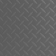PVC Bodenbelag Metalloptik | Retro Riffelblech Alu