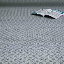 PVC Bodenbelag Riffelblech Grau Alu (Breite: 200