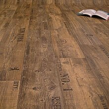 PVC Bodenbelag Rustikal Dunkel mit Aufdruck (11,90
