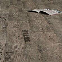 PVC Bodenbelag Rustikal Grau mit Aufdruck (Breite: