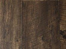 PVC-Bodenbelag XL Holzdielenoptik Rustikal Dunkelbraun | Vinylboden in 4m Breite & 3,5m Länge | Fußbodenheizung geeignet | Rutschhemmende PVC Planken | Stark strapazierfähiger Fußboden-Belag | Made in Germany