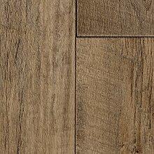 PVC CV Vinyl Bodenbelag Auslegware Holzoptik Landhausdiele Eiche dunkel 200, 300 und 400 cm breit, verschiedene Längen, Variante: 6 x 3 m