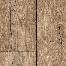 PVC CV Vinyl Bodenbelag Auslegware Holzoptik Landhausdiele Eiche hell 200, 300 und 400 cm breit, verschiedene Längen, Variante: 4,5 x 2 m