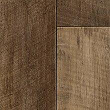 PVC CV Vinyl Bodenbelag Auslegware Holzoptik Landhausdiele Eiche braun 200, 300 und 400 cm breit, verschiedene Längen, Variante: 5,5 x 3 m