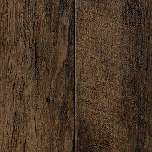 PVC CV Vinyl Bodenbelag Auslegware Holzoptik Landhausdiele Eiche braun dunkel 200, 300 und 400 cm breit, verschiedene Längen, Variante: 5,5 x 3 m