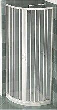 PVC Duschkabine Viertelkreis 90x90 mit zentraler