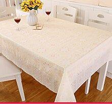 Pvc garten tischdecke stoff continental tea table mat kunststoff tischdecken wasserdicht burn-proof einweg weichglas matte für tabelle-O 137x137cm(54x54inch)