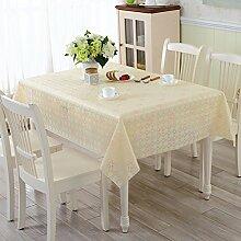 PVC Garten Tischdecke/Wasser Und Öl-burn-proof Plastik-tischdecke/Weichglas Tuch Europäisch Anmutenden Coffee Table Mat-H 137x137cm(54x54inch)