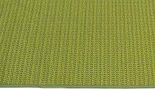 PVC Garten Tischdecke wetterbeständig Gartentischdecke abwischbar rund oder eckig #1339 (Apfel grün, 160 cm Ø rund)