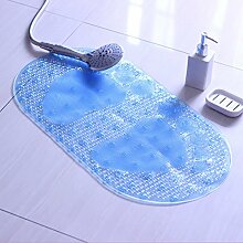 PVC-grün Saugnapf massage Dusche Badematte Badematte Badezimmer Dusche Badewanne Matten Matten, 36 x 69 cm, blau