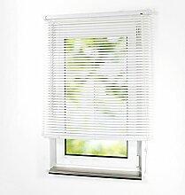 PVC-Jalousie 130 x 160cm weiß Kunststoffjalousie