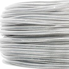 PVC/PVC Rundkabel transparent, 2x0,75mm² - Made in EU | sehr flexibel - 100 Meter Ring
