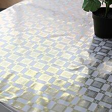 PVC qualitativ hochwertige Tischdecken/Europäisch anmutenden Garten Tischdecke/Tuch/Wasser und Öl Beweis Einweg-Tischdecke/ weiches Tuch Pad aus Glas-M 137x100cm(54x39inch)
