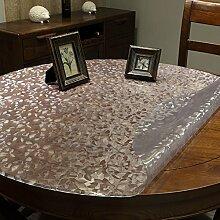 pvc Runde Tischdecke/ Runde Plastik Tischdecke/Wasserdichte transparente Einweg-Tischdecke/ schrubben Tischdecke-A Durchmesser100cm(39inch)