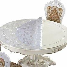 Pvc-Rundtisch Tischdecke Kristalldruck Weiches