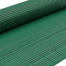 PVC Sichtschutzmatte 100x500cm Grün Windschutz Sichtschutz Doppelstabmatten Gartenzaun Terrasse Zaun NEU