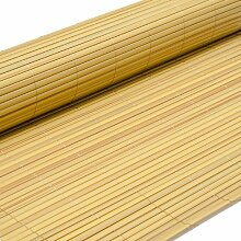 PVC Sichtschutzmatte 80x400cm Bambus Windschutz Sichtschutz Doppelstabmatten Gartenzaun Terrasse Zaun NEU