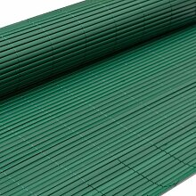 PVC Sichtschutzmatte 80x400cm Grün Windschutz Sichtschutz Doppelstabmatten Gartenzaun Terrasse Zaun NEU