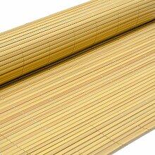 PVC Sichtschutzmatte 80x500cm Bambus Windschutz Sichtschutz Doppelstabmatten Gartenzaun Terrasse Zaun NEU
