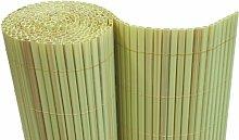 PVC Sichtschutzmatte Balkon Sichtschutz 160x500cm Windschutz Gartenzaun bambus - Röhrchen