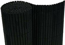 PVC Sichtschutzmatte Balkon Sichtschutz 200x500cm Windschutz Gartenzaun schwarz - Röhrchen