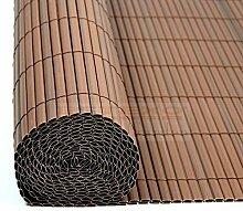 PVC Sichtschutzmatte Braun - Größe Wählbar Sichtschutzzaun Sichtschutz für Zaun Balkon Windschutz (Braun - Höhe 120 cm / Länge 3 m)
